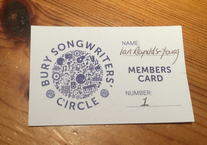 Membership of Bury Songwriters' Circle